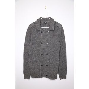 H&M Size M Men Double Breasted Knit Jacket